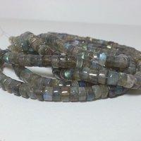 Labradorite Tyre Shape Heishi Beads Natural Gemstone Bead