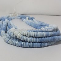 Natural Blue Opal Heishi Beads Opal Gemstone Flat Disc Bead Tyre