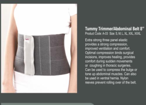 """Tynor Tummy Trimmer / Abdominal Belt 8"""" - S/m/L"""