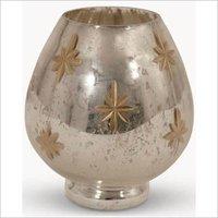 Twilight Star Glass votive candle holder
