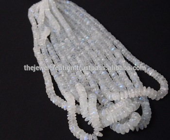 Natural Rainbow Moonstone Beads Plain Saucer