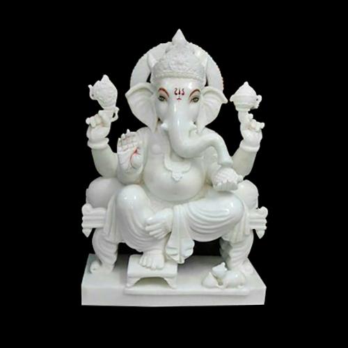 Marble Shree Ganesha Statue