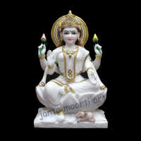 White Marble Lakshmi Mata Statue