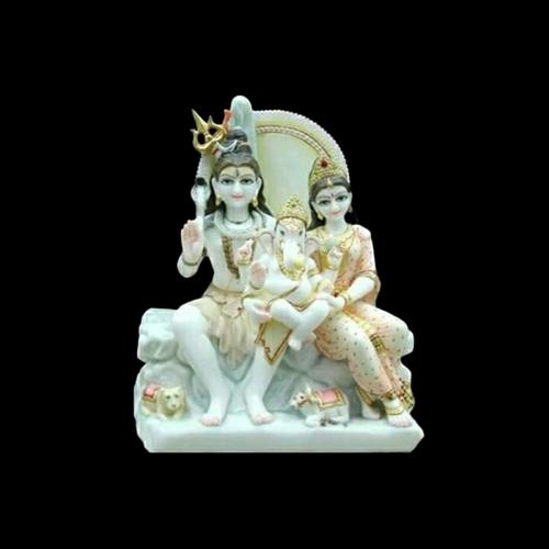 Marble Shiv Parvati Statue