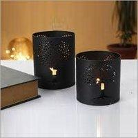 Decorative Etching Christmas Diwali Metal Candle Holder