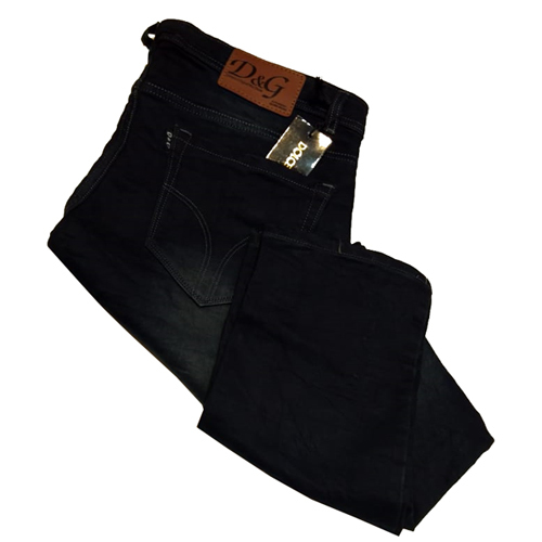 Men Plain Black Jeans