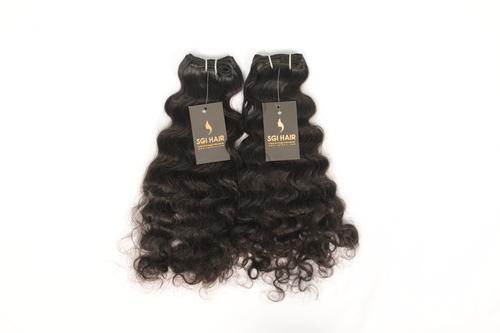 Temple Hair Weft curly hair