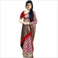 Fancy Printed Bhagalpuri  Silk  Sarees