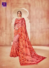 Fancy Printed Silk Sarees