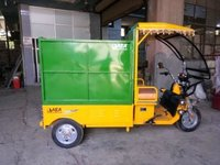 Semi Hydraulic Garbage Loading Rickshaw