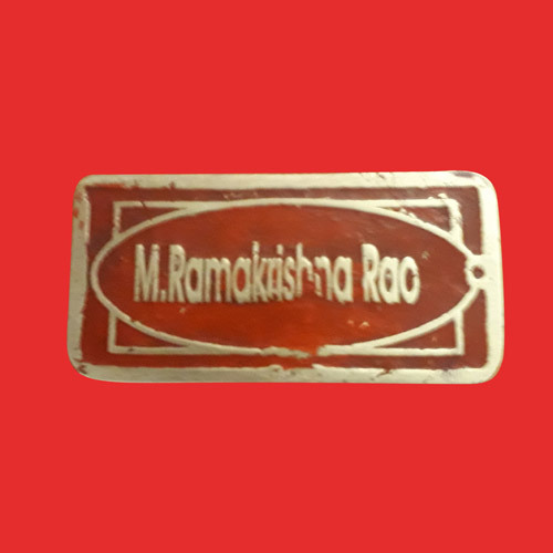 Commercial Brass Name Plate