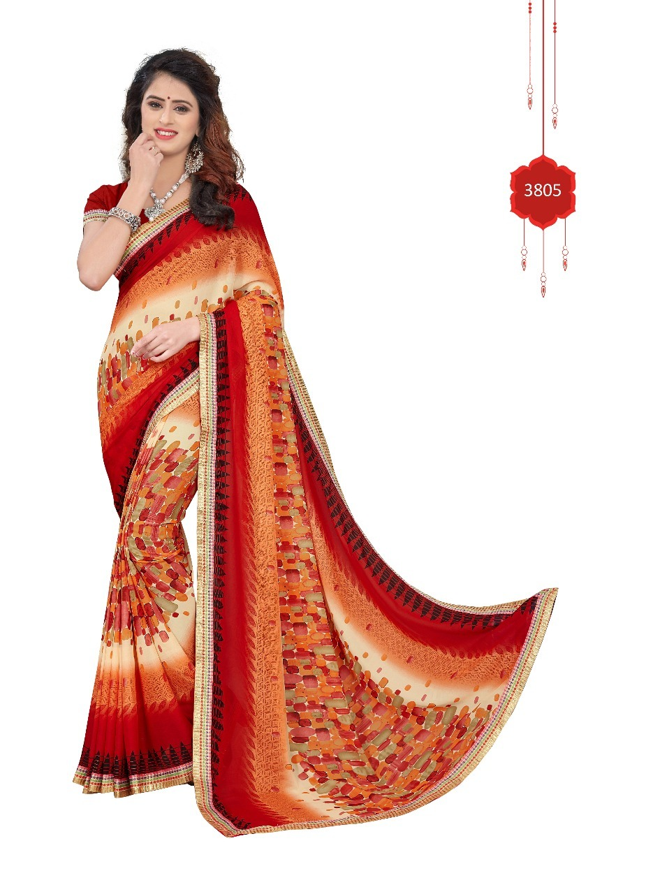 Georgette With lace Saree