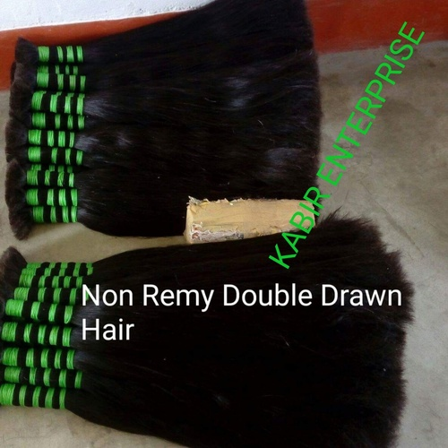 Double Drawn Straight Hair