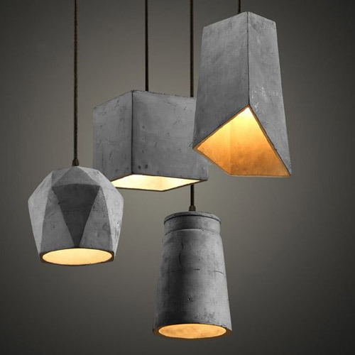 Home Decor Concrete Hanging Lamp