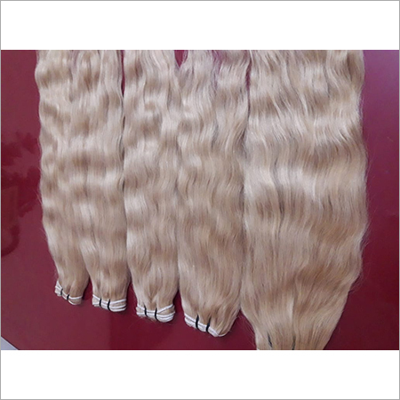 Blonded Weft Hair