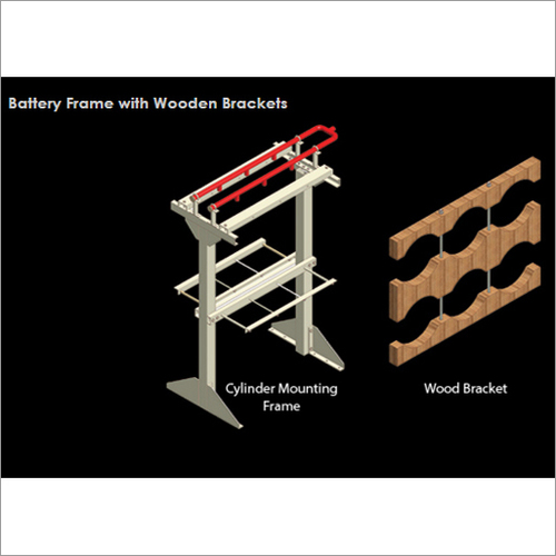 Wooden Brackets Battery Frame