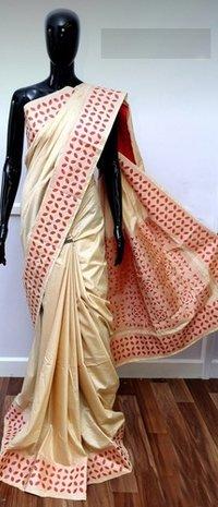 Embroidery Work Assam Silk Saree