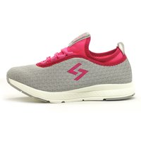 Sagma women's grey-pink sports shoes