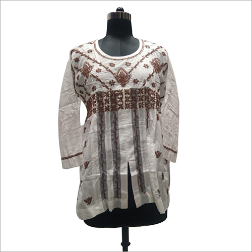 Ladies Cotton Lucknowi Chikan Top/Blouse