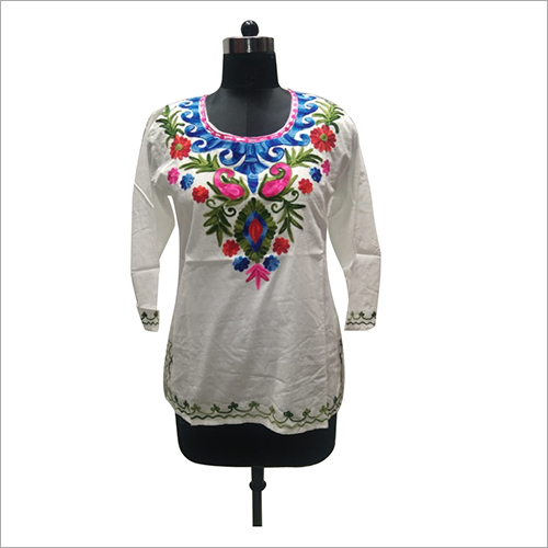 Ladies Oon Emboidery Cotton Top/Blouse