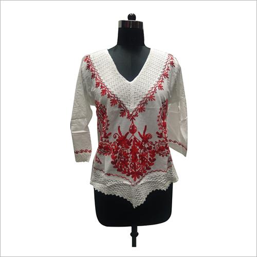 Ladies Cotton Makdijal Short Top/Blouse