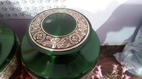 Brass Engraving Green Urn