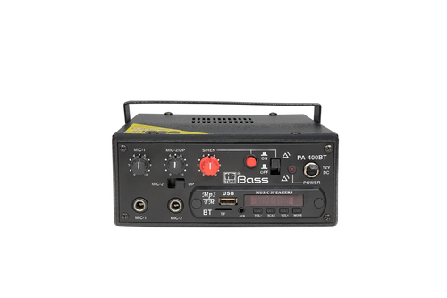 2 Siren Amplifier 40 Watt with Bluetooth