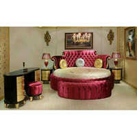 Leather Round Bed