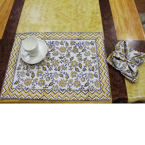 Cotton Block Print Dinner Table Mats