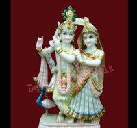 White Radha Krishna Jugal statue