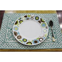 Home Decoration Indian Cotton Fabric Handmade Custom Colourful Design Block Print Decorative Cotton Dinner Cloth Table Mat
