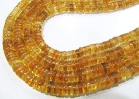 ON SALE Natural Citrine Tyre Shape Rondelle Plain Smooth  Beads