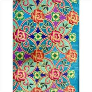 Digital Printed Fabric With Embroidery Work