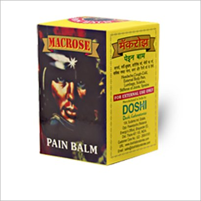 Macrose Pain Relief Balm Age Group: For Adults