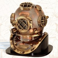 Brass Deep Sea Diver Diving Helmet Scuba Divers Helmet
