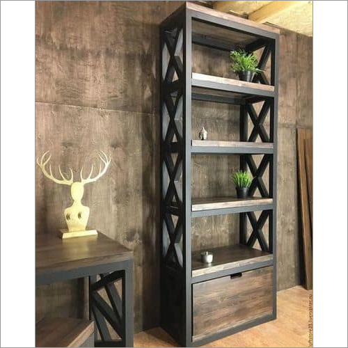 Iron Book Shelf With Draw
