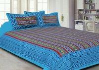 Kantha print  Cotton Double bedsheet