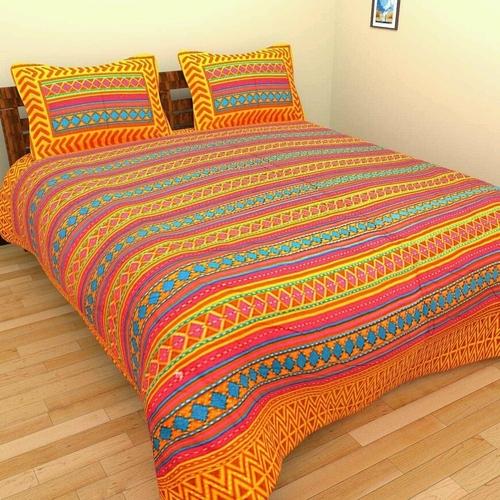 Kantha work king size bed sheets
