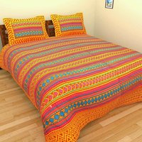 Kantha work king size bed sheets