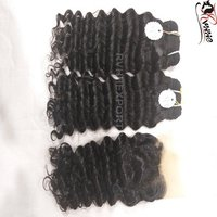 Indian Unprocessed Virgin Cuticle Aligned Temple Human Kinky Curly Hair