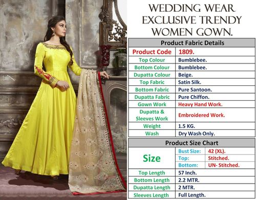 WEDDING WEAR EXCLUSIVE TRENDY GOWNS