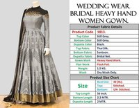 WEDDING WEAR HEAVY HANDWORK GOWN