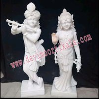 White Stylish  Radha Krishna statue