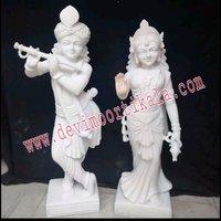White Stylish  Radha Krishna statue