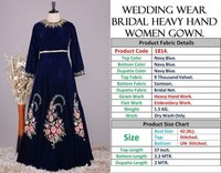 WEDDING WEAR BRIDAL HEAVY HAND WORK GOWN
