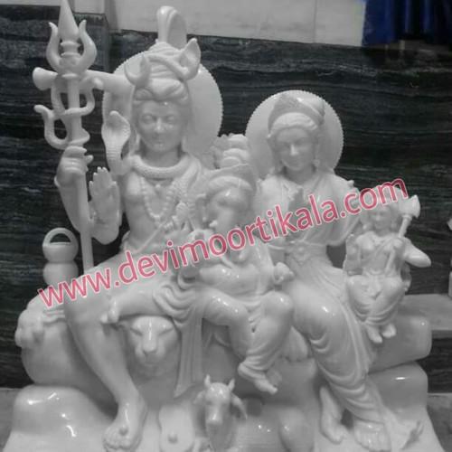 Marble Shiv Parivaar Statue