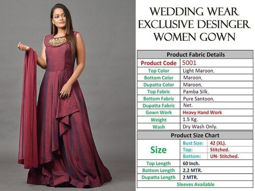 WEDDING WEAR BRIDAL HEAVY HAND WORK GOWNS