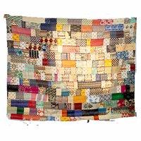 Handmade Indian 100% Cotton Bedsheet Ethnic Printed Designer Queen Size Kantha Thread Work Patch Work Bedsheet