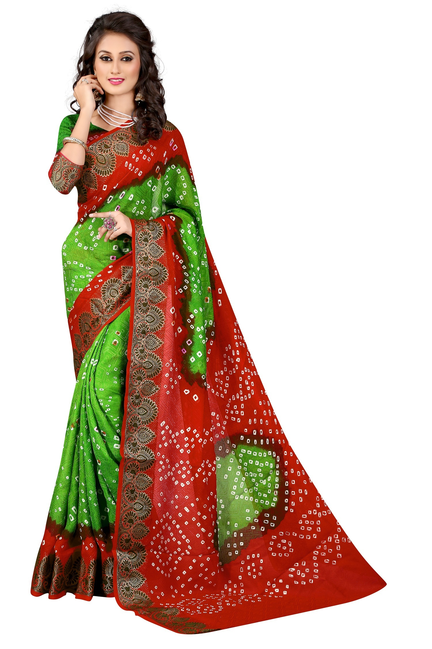 Designer Bandhani cotton Saree