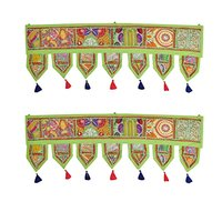 Indian Home Bandanwar Door Hangings Green Rajasthani Gate Toran